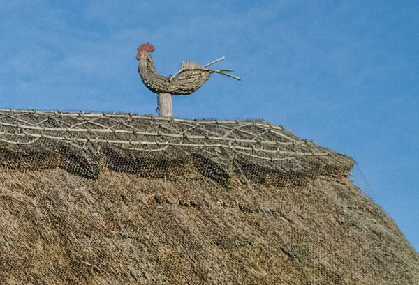 Broad Campden photo, Thatched cottage roof decoration