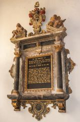 Broadhembury, St Andrew's Church, Sir Francis Drewe memorial, 1675