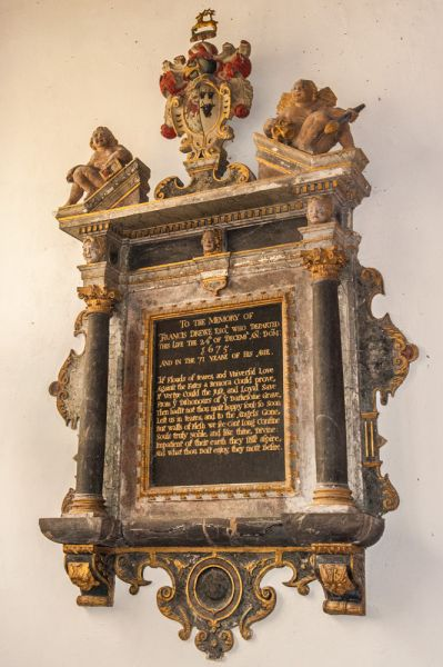 Broadhembury, St Andrew's Church photo, Sir Francis Drewe memorial, 1675