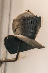 Broadhembury, St Andrew's Church, Edward Drewe funeral helmet