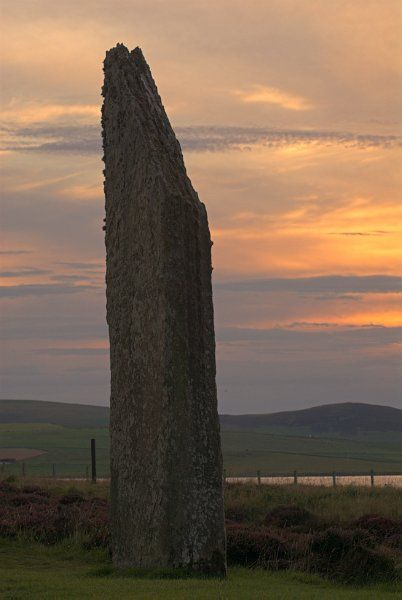 Ring of Brodgar photo, Sunset at Brodgar