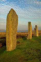 Ring of Brodgar, Standing stones at dawn