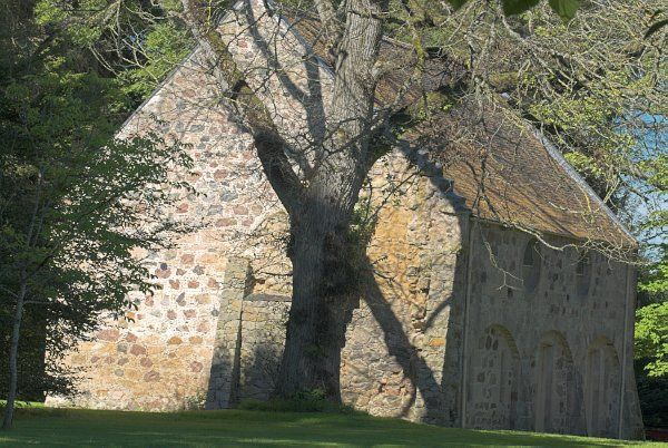 Brodie Castle photo, Medieval chapel in the trees