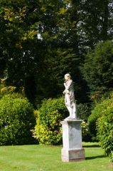 Garden statue near the entrance