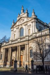 Brompton Oratory, The west facade from the south east