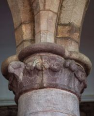 Bromyard, St Peter's Church, Ballflower column capitals, nave arcade