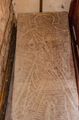 Bromyard, St Peter's Church, Incised grave slab of a knight