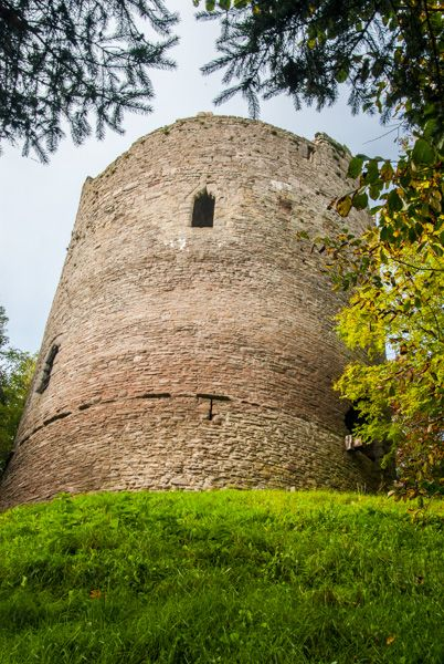 Bronllys Castle photo, The tower from below
