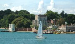 Brownsea Island, The pier and Brownsea Castle (c) Gerpsych