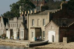 Brownsea Island, Cottages by the pier (c) Peter Trimming