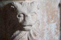 Bruisyard, St Peter's Church, Lion carving on font