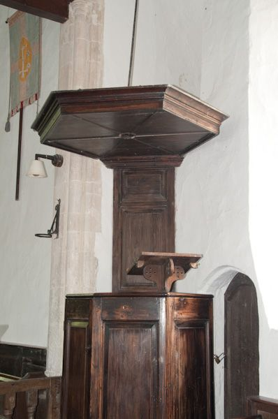 Bruisyard, St Peter's Church photo, 18th century pulpit