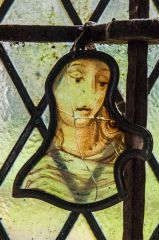 Brushford, St Nicholas Church, Medieval French stained glass