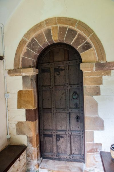 Brushford, St Mary's Church photo, The restored 12th century doorway