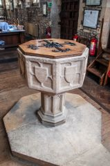 Buckden, St Mary's Church, The medieval font