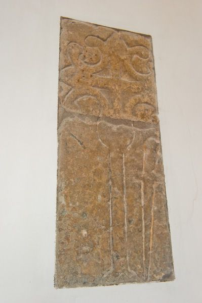 Bugthorpe, St Andrew's Church photo, Medieval grave slab