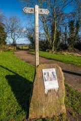 The Cadw information panel outside Bulwarks