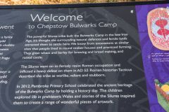 Local school information panel about the Bulwarks Camp