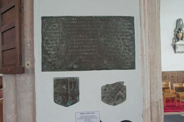 Bungay, Holy Trinity Church photo, Throckmorton memorial brass