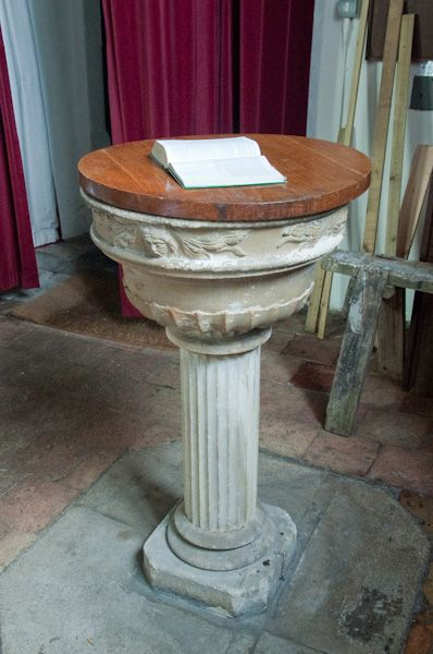 Bungay, Holy Trinity Church photo, 18th century font