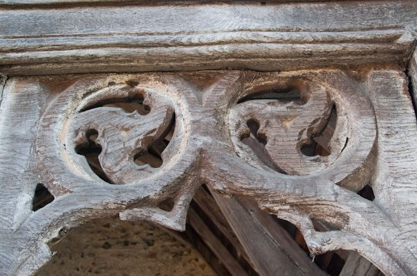 Bures, St Mary's Church photo, North porch open tracery