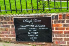 Burgh House & Hampstead Museum, Sign outside the museum