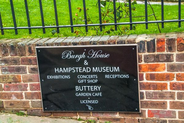 Burgh House & Hampstead Museum photo, Sign outside the museum
