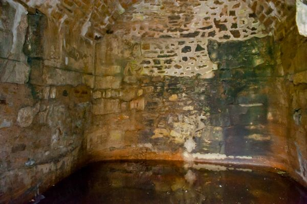 Burghead Well photo, The back wall of the well