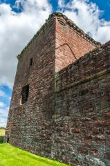 Burleigh Castle, West face of the tower house