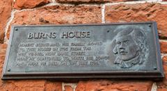 Robert Burns House, Memorial plaque outside the house