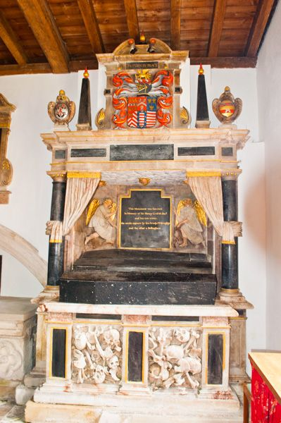 Burton Agnes, St Martin's Church photo, Sir Henry Griffith memorial (d 1654)