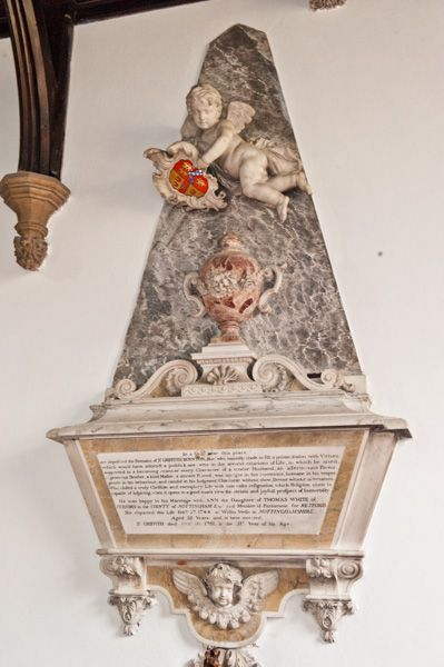 Burton Agnes, St Martin's Church photo, Memorial to Sir Griffith Boynton (d 1761)