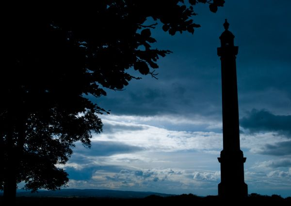 Burton Pynsent Monument photo, Sunset at the monument