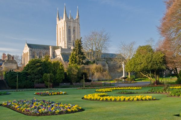 St Edmundsbury Cathedral photo, View from Abbey Gardens