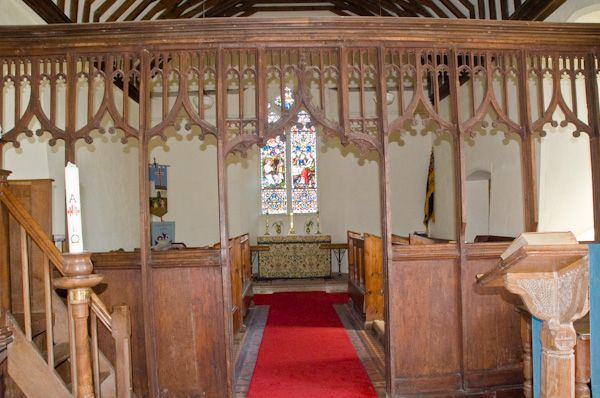 Butley, St John the Baptist Church photo, 15th century rood screen