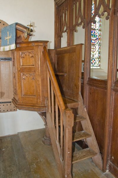 Butley, St John the Baptist Church photo, Hourglass pulpit