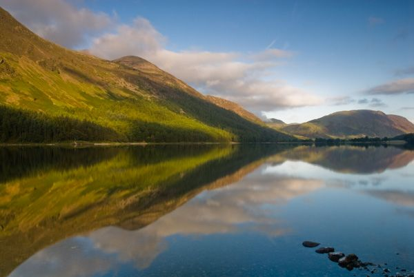 Buttermere Lake photo, Reflections in the lake