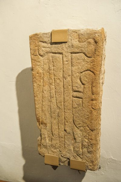 Bywell, St Andrew's Church photo, Medieval grave slab, south transept
