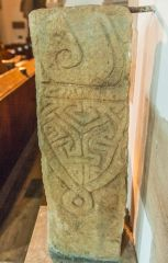 The Saxon cross in the chancel