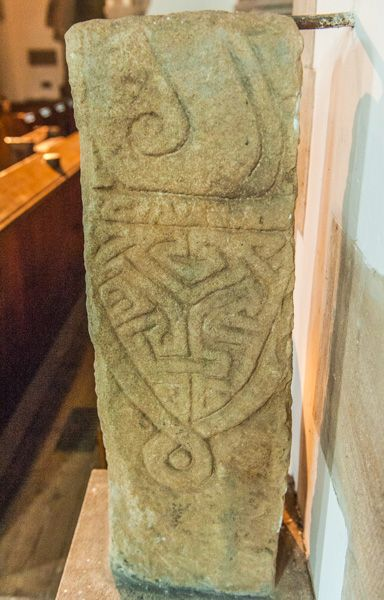 Bywell, St Andrew's Church photo, The Saxon cross in the chancel