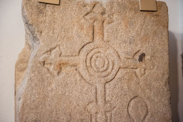 Bywell, St Andrew's Church photo, Cross slab detail, north transept