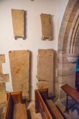 Medieval cross slabs, north transept