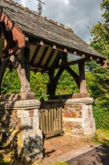 The lych gate giving access to the churchyard