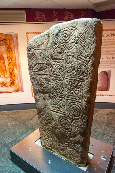 Thurso photo, Pictish carved stone in the Caithness Horizons museum