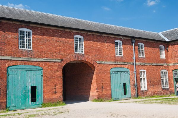 Calke Abbey photo, The stable block
