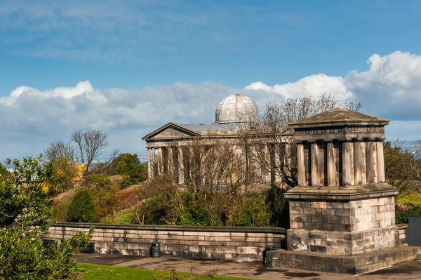 Calton Hill Folly Group photo, The Playfair Monument and Old City Observatory