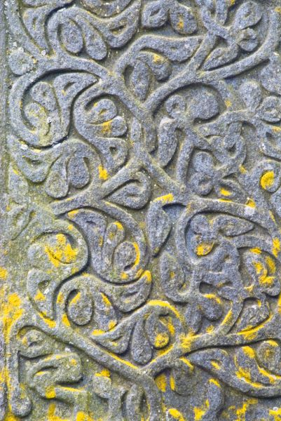 Campbeltown Cross photo, Another example of foliage carving on the shaft