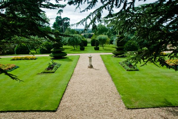 Canons Ashby photo, The formal gardens
