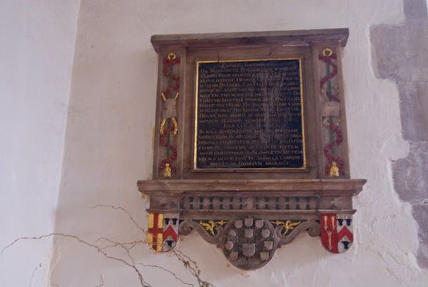 Canterbury, St Mildred Church photo, Margaret Hales memorial