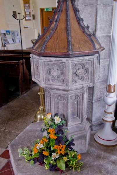 Canterbury, St Mildred Church photo, 15th century font